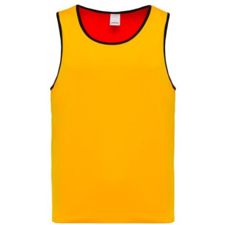 CHASUBLE RUGBY RÉVERSIBLE PRO ACT JAUNE ROUGE