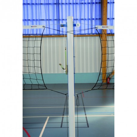 POTEAU CENTRAL VOLLEY-BALL SCOLAIRE ALUMINIUM