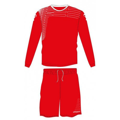 KIT FOOTBALL UHLSPORT MATCH ML FEMME ROUGE
