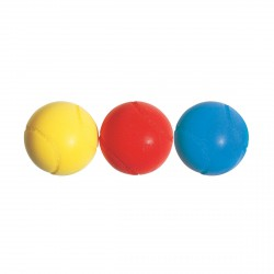 LOT DE 3 BALLES MOUSSE 70 MM