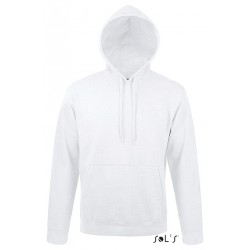 SWEAT-SHIRT CAPUCHE UNISEXE MOLLETON 280 BLANC