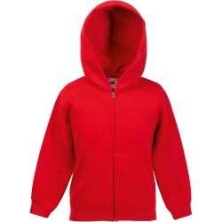 VESTE ZIPPEE CAPUCHE ENFANT FRUIT OF THE LOOM NOIRE VUE DOS
