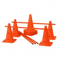 LOT DE 5 MINI-HAIES CONES A TROUS 40 CM