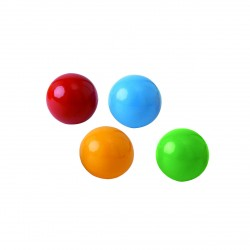 LOT DE 3 BALLES DE SCENE PVC 70 MM