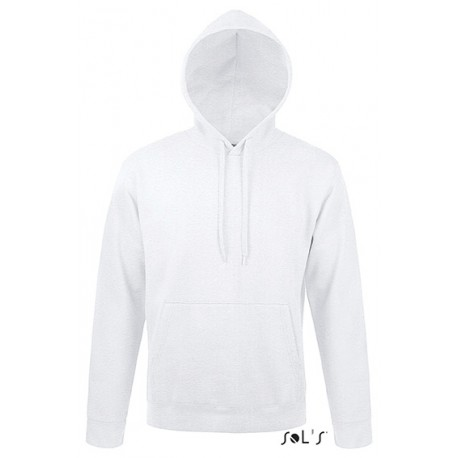 SWEAT-SHIRT CAPUCHE MIXTE MOLLETON 320 BLANC