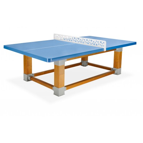 TABLE PING PONG OUTDOOR NATURA RESITEC HD 60 BLEUE FILET LAQUE