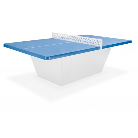 TABLE PING PONG OUTDOOR SQUARE RESITEC HD 60 BLEUE FILET LAQUE