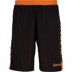 SHORT BASKET SPALDING RÉVERSIBLE ESSENTIAL HOMME NOIR ORANGE